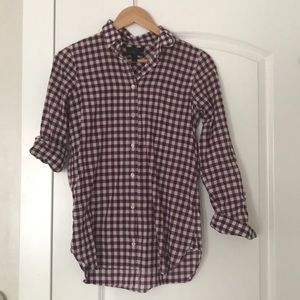 Jcrew long sleeve button up shirt! Size 0